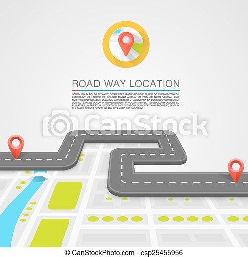 ścieżka, droga, wybrukowany - csp25455956