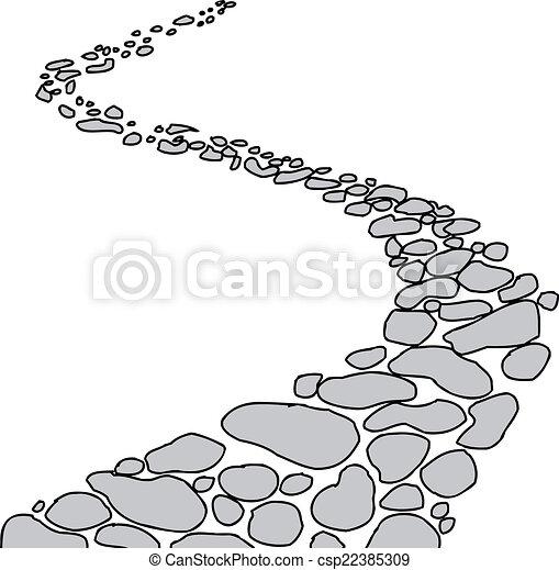 ścieżka, kamień, odizolowany - csp22385309