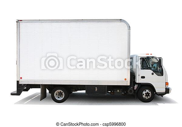 ścieżki, strzyżenie, odizolowany, doręczenie, tło, wózek, included., biały - csp5996800