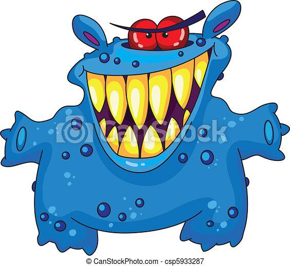 śmiech, potwór - csp5933287
