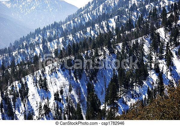 śnieg capped, góry - csp1782946