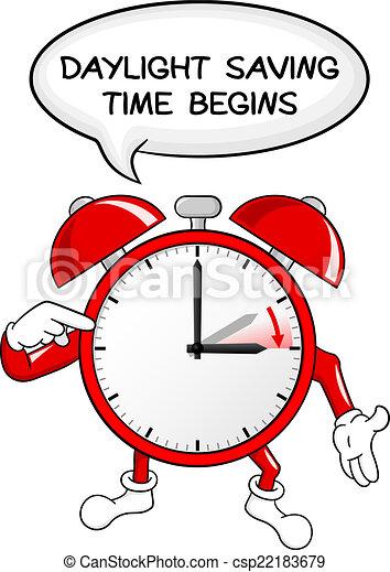 światło dzienne, czas, alarm, zbawczy, zmiana, zegar - csp22183679