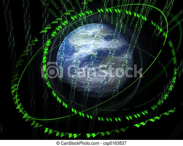 świat, 3d, cyfrowy - csp0163837