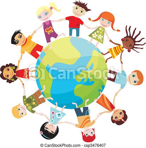 świat, dzieci - csp3476407