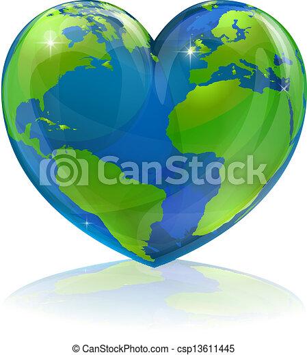 świat, pojęcie, romansowe serce - csp13611445