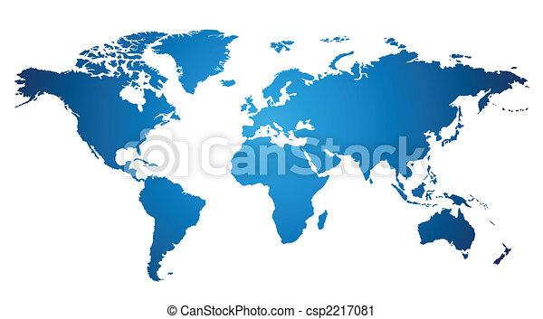 światowa mapa - csp2217081