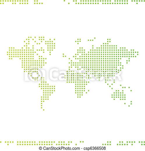 światowa mapa - csp6366508