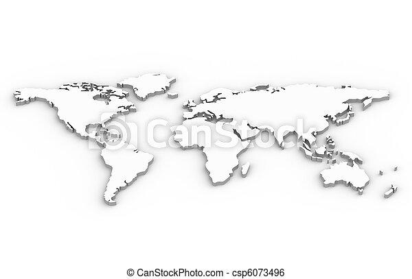 światowa mapa - csp6073496