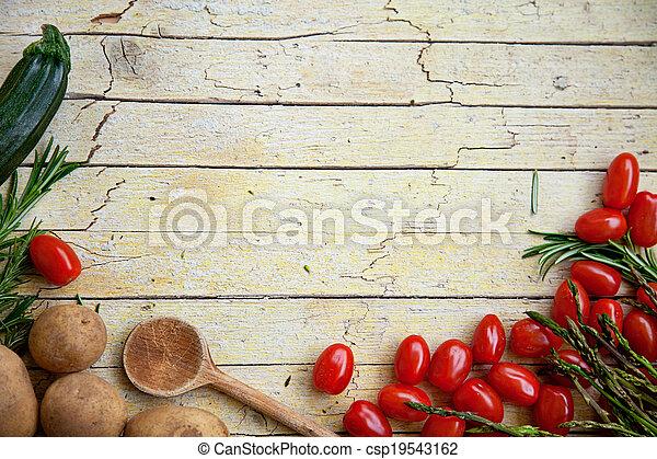 świeża zielenina, organiczny - csp19543162