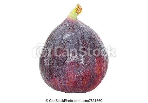 świeży, biały, owoc, odizolowany, strój - csp7831660