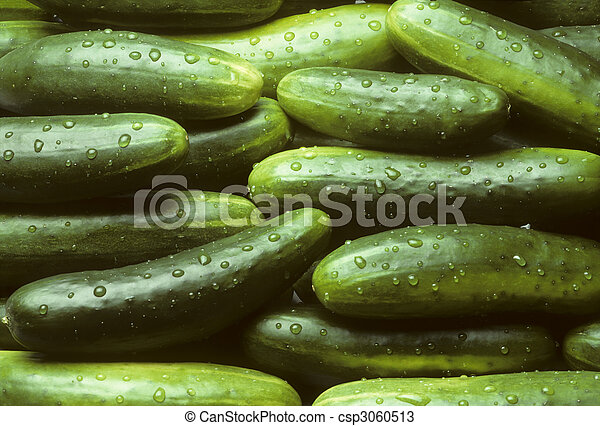 świeży, stos, ogórki - csp3060513