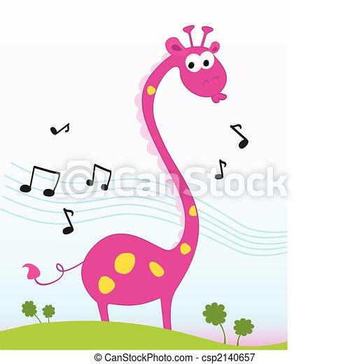 żyrafa, śpiew - csp2140657