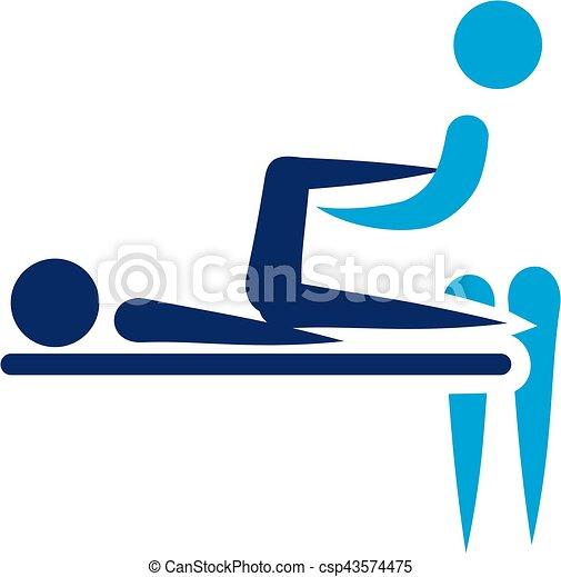 -, fizykoterapia, ikona, abstrakcyjny - csp43574475