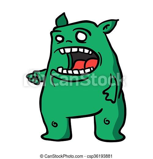 1, zielony potwór - csp36193881