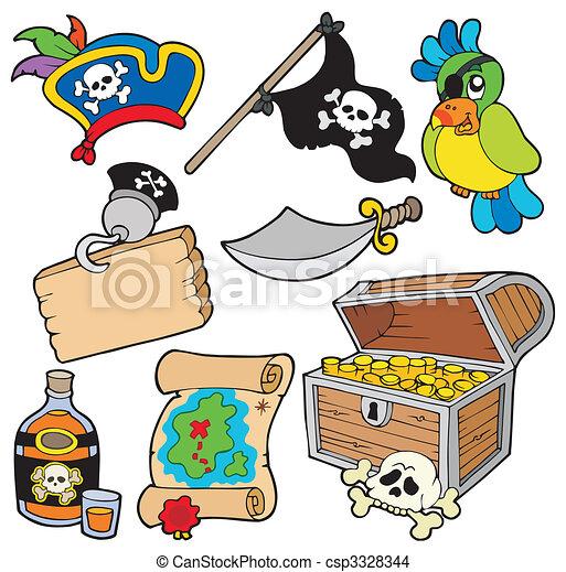 10, pirat, zbiór - csp3328344