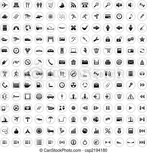 170, ikony, komplet - csp2194180