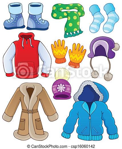 3, zima, zbiór, odzież - csp16060142