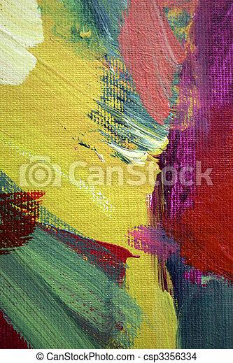 abstrakcyjna sztuka - csp3356334