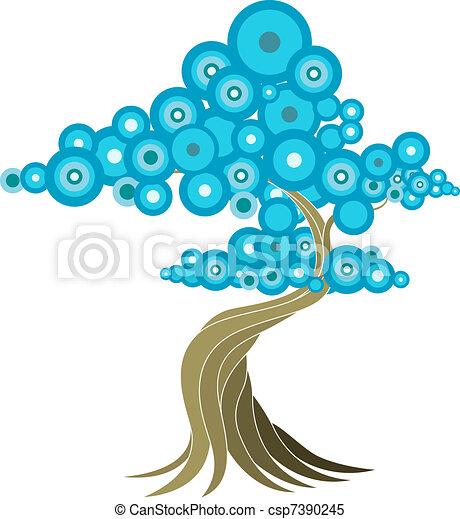 abstrakcyjny, drzewo, ilustracja - csp7390245