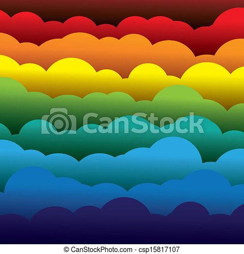 abstrakcyjny, pomarańcza, kolor, papier, (backdrop), ablegry, zawiera, -, żółty, graphic., 3d, błękitny, barwny, utworzony, ilustracja, tło, używając, czerwony, chmury, podobny, to, wektor, zielony - csp15817107