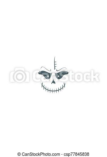 abstrakcyjny, potwór, uśmiech - csp77845838