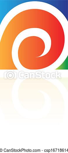 abstrakcyjny, skwer, prostokątny, ikona - csp16718614