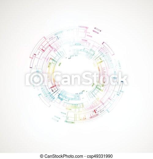 abstrakcyjny, tło, techniczny - csp49331990