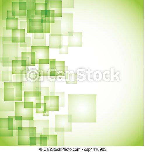 abstrakcyjny, tło, zielony, skwer - csp4418903