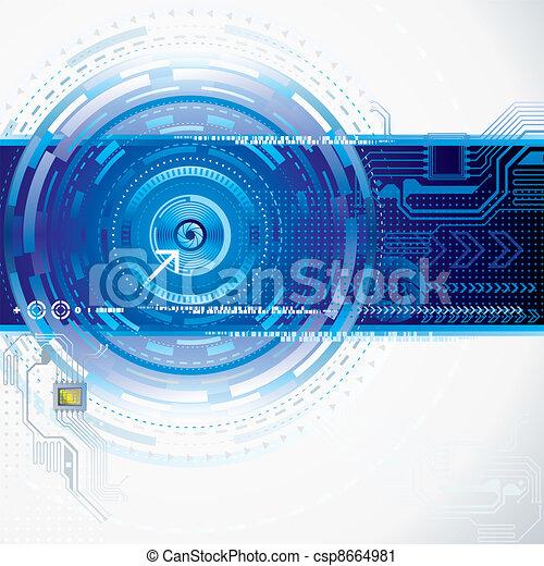 abstrakcyjny, technologia - csp8664981