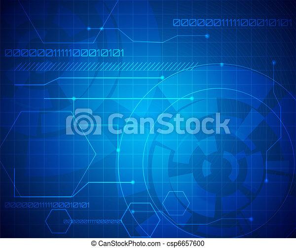 abstrakcyjny, technologia, tło - csp6657600