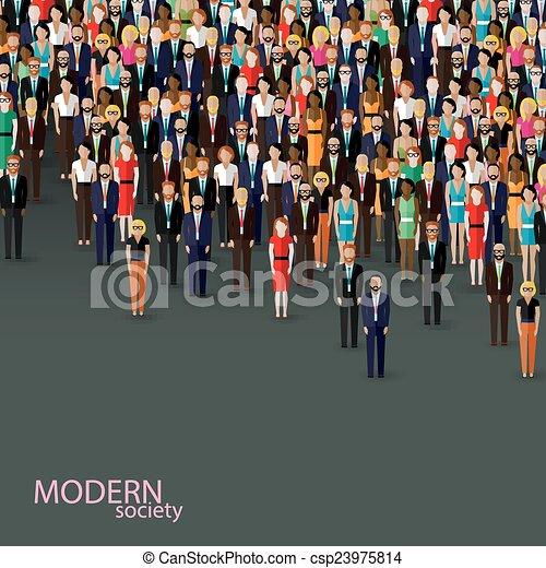albo, handlowa ilustracja, polityka, wektor, piać, płaski, community. - csp23975814