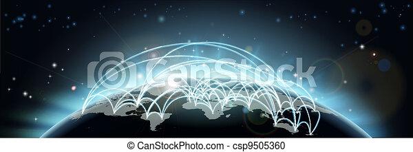 albo, podróż, świat, komunikacje, mapa - csp9505360