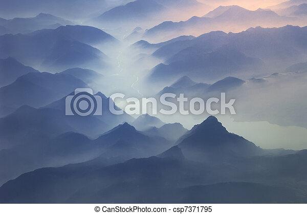 alpy, szczyty, góry - csp7371795