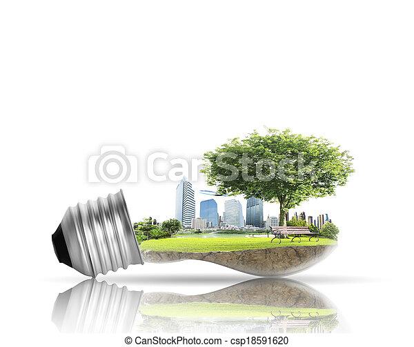 alternatywa, bulwa, lekki, pojęcie, energia - csp18591620