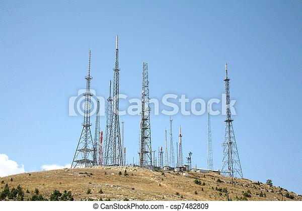 antena, tło - csp7482809