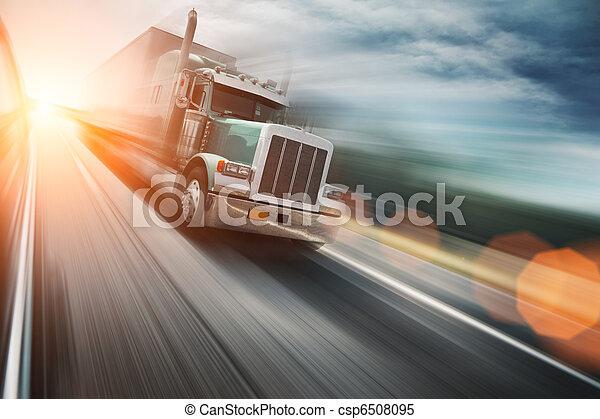 autostrada, wózek - csp6508095
