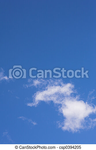 błękitny, chmury, #1, niebo - csp0394205
