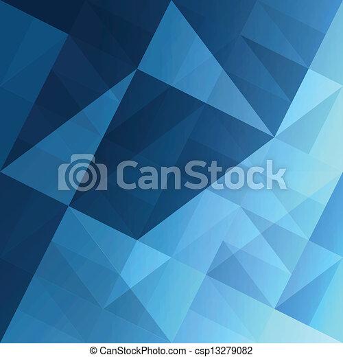 błękitny, eps10, abstrakcyjny, tło., wektor, triangle - csp13279082
