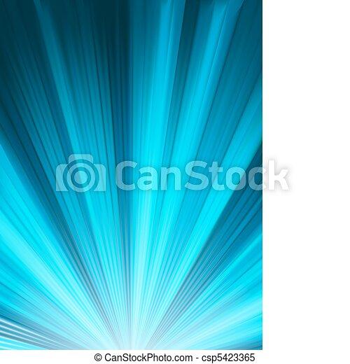 błękitny, kolor, eps, burst., projektować, 8 - csp5423365