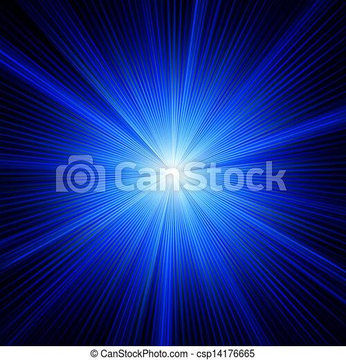 błękitny, kolor, eps, burst., projektować, 8 - csp14176665