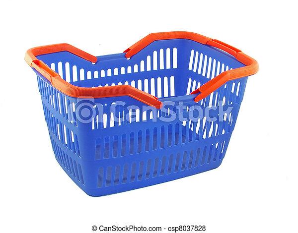 błękitny, kosz, zakupy - csp8037828