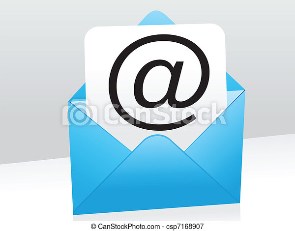 błękitny, poczta, abstrakcyjny, ikona - csp7168907