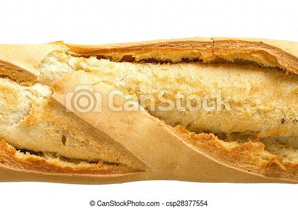 baguette, wizerunek, skorupiasty, do góry szczelnie - csp28377554