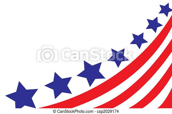 bandera, wektor, styl, usa - csp2029174