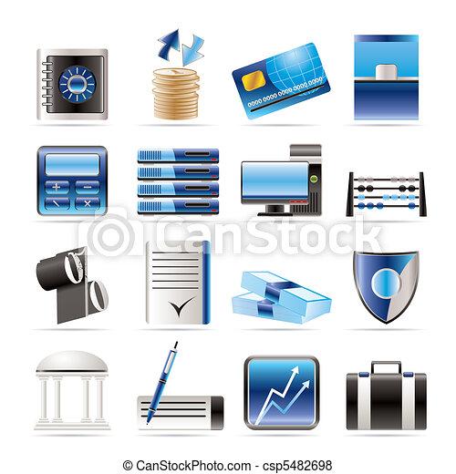 bank, ikony, handlowy, finanse - csp5482698