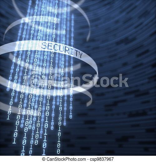 bezpieczeństwo, dane, cyfrowy - csp9837967