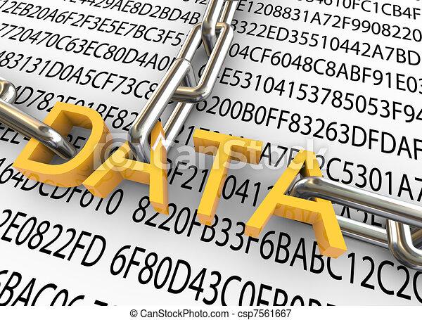 bezpieczeństwo, pojęcie, dane, 3d - csp7561667