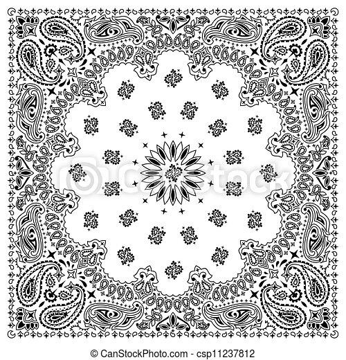 biały, bandana - csp11237812
