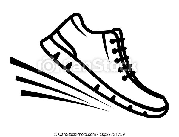 bieg obuwie, ikona - csp27731759