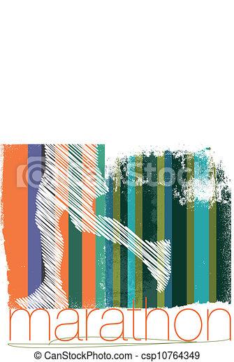 biegacz, abstrakcyjny, ilustracja, tło., wektor, maraton - csp10764349
